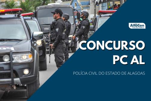 Além de 500 vagas de agente e escrivão, concurso PC AL (Polícia Civil do Alagoas) pode incluir mais 50 vagas de delegado, com iniciais de R$ 12,5 mil