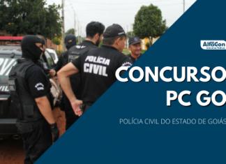 Novo concurso PC GO (Polícia Civil de Goiás) deverá contar com oportunidades para as carreiras de escrivão e agente, ambas de nível superior