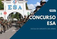 Concurso ESA (Escola de Sargentos das Armas) oferece 1.00 vagas para nível médio e iniciais de R$ 3,8 mil após formação
