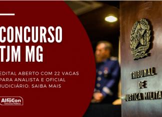 Concurso TJM MG (Tribunal de Justiça Militar de Minas Gerais) oferece 21 vagas para analista e oficial judiciário; nível superior com iniciais de R$ 2,9 mil