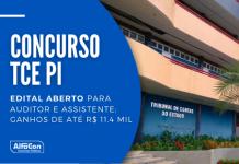 O concurso TCE PI (Tribunal de Contas do Estado do Piauí) é organizado pela Fundação Getúlio Vargas, para cargos de níveis médio e superior. Leia mais!