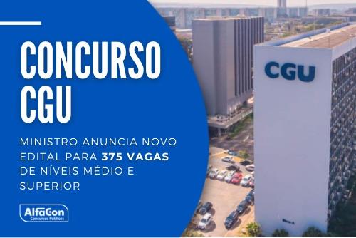 Novo concurso CGU (Controladoria Geral da União) será para cargos de técnicos e auditores, de níveis médio e superior. Até R$ 19,1 mil. Leia mais!