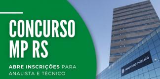 O concurso MP RS (Ministério Público do Rio Grande do Sul) será para a formação de cadastro reserva para futuras oportunidades