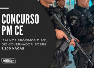 Novo concurso PM CE (Polícia Militar do Ceará) contará com 2 mil vagas para soldados e 200 para oficiais. Ensino médio e superior e R$ 3,1mil. Leia mais!