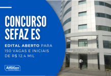 Concurso Sefaz ES (Secretaria Estadual da Fazenda do Espírito Santo) oferece 50 vagas para auditor fiscal. Inscrições começam em 31 de maio. Leia mais!