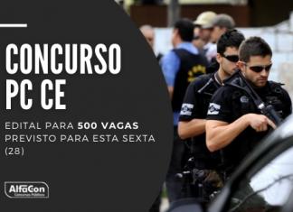 Novo concurso PC CE (Polícia Civil do Ceará) contará com oportunidades para os cargos de escrivão e inspetor. Nível superior, até R$ 3,8 mil. Leia mais!