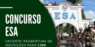 Destinadas à Escola de Sargentos das Armas (ESA), oportunidades no concurso Exército cobram ensino médio e estão distribuídas entre três áreas: geral (1.000 postos), saúde (55) e música (45)