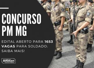 Concurso PM MG oferece 1653 vagas para soldado com iniciais de R$ 3,9 mil; seleção exige ensino superior