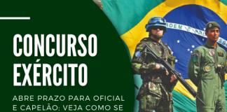 Voltado a profissionais com curso superior em diversas áreas, concurso do Exército preencherá 170 vagas em diversas áreas. Salários chegam a R$ 8,2 mil