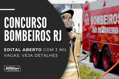 Concurso Bombeiros RJ oferece 2.548 vagas para soldado e 452 para oficial na área da saúde. Salários chegam a R$ 7,9 mil. Saiba detalhes!