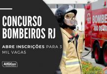 Com salários de até R$ 7,9 mil, concurso Bombeiros RJ tem oportunidades para soldado (2.548 postos) e oficial na área da saúde (452). Leia mais!