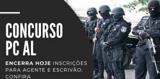 Destinadas a profissionais com curso superior em qualquer área, carreiras em disputa no concurso da PC AL (Polícia Civil de Alagoas) pagam R$ 3,9 mil. Saiba como realizar sua inscrição