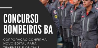 Novo concurso Bombeiros BA (Corpo de Bombeiros do Estado da Bahia) contará com uma oferta de 115 vagas. Previsão de edital ainda será confirmada