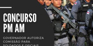 Concurso PM AM (Polícia Militar do Amazonas) contará com 1.350 vagas, sendo 1.000 para soldados e 350 oficiais, com iniciais até R$ 7,1 mil. Leia mais!