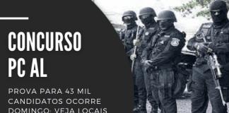Destinado a preencher 500 vagas, concurso da PC AL (Polícia Civil de Alagoas) oferece 368 postos para agente de polícia e 132 para escrivão. Carreiras cobram curso superior em qualquer área e pagam R$ 3,9 mil
