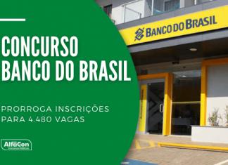 Novo prazo para todos os públicos interessados em participar do concurso do Banco do Brasil vai até 7 de agosto. Anteriormente, período já havia sido estendido apenas para pessoas com deficiência