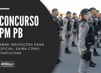 Com vencimentos de R$ 7,7 mil, concurso da PM PB (Polícia Militar da Paraíba) preencherá 30 vagas. Candidatos devem possuir curso superior em qualquer área e idade até 32 anos