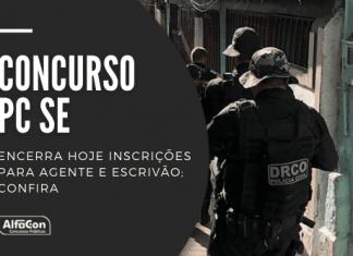 Destinado a preencher 60 vagas, concurso da PC SE (Polícia Civil de Sergipe) oferece vencimentos de R$ 4,5 mil. Carreiras podem ser disputadas por candidatos com curso superior em qualquer área