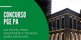 Destinado a preencher 36 vagas imediatas, concurso da PGE PA (Procuradoria-Geral do Pará) tem opções para candidatos com níveis médio e superior. Inscrições começam em 17 de agosto