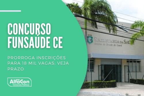 Distribuídas entre cargos de níveis médio e superior, oportunidades no concurso da Funsaúde CE (Fundação Regional de Saúde do Ceará) pagam até R$ 23,8 mil. Saiba como se inscrever