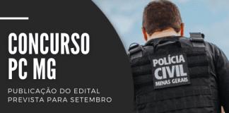Concurso PC MG (Polícia Civil do Estado de Minas Gerais) será destinado a preencher 684 vagas de níveis médio e superior