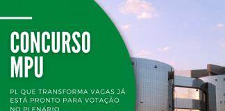 Projeto de lei encaminhado pelo Procurador Geral da República, Augusto Aras, busca transformar vagas de técnicos do Concurso MPU em outros cargos