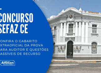 A aplicação das provas do concurso Sefaz CE 2021 para o cargo de auditor ocorreram neste domingo (15). Os professores do AlfaCon fizeram a correção da prova e apontaram questões que cabem recursos.