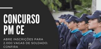 Podem participar do concurso da PM CE (Polícia Militar do Ceará) candidatos de ambos os sexos com ensino médio. Corporação oferece salário inicial de R$ 4,1 mil