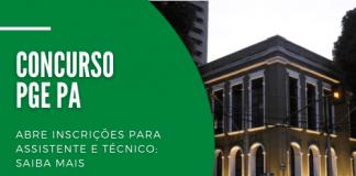 Com salários de até R$ 3,2 mil, concurso da PGE PA (Procuradoria-Geral do Pará) preencherá 36 vagas para contratação imediata. Há opções para candidatos com níveis médio e superior