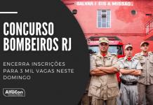 Oportunidades no concurso Bombeiros RJ (Corpo de Bombeiros Militar do Rio de Janeiro) são para soldado (2.548 postos) e oficial na área da saúde (452). Saiba como participar