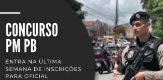 Podem concorrer a uma das 30 vagas em disputa no concurso da PM PB (Polícia Militar da Paraíba) candidatos com curso superior em qualquer área e idade até 32 anos. Salário é de R$ 7,7 mil