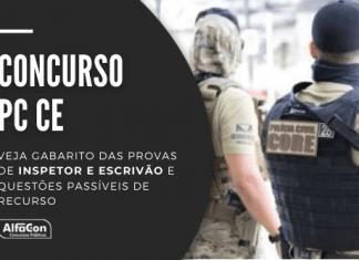 O concurso PC CE (Polícia Civil do Ceará) conta com oportunidades para nível superior para os cargos de inspetor e escrivão, até R$ 3,7 mil; veja questões comentadas