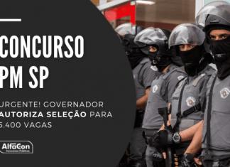 Novo concurso PM SP (Polícia Militar do Estado de São Paulo) será destinado a quem possui ensino médio, com inicial de R$ 3,3 mil
