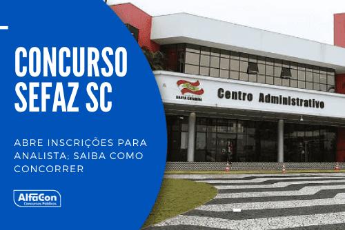 Opção para candidatos com curso superior em qualquer área, carreira oferece salário inicial de R$ 5,4 mil. Edital do concurso da Sefaz SC (Secretaria da Fazenda de Santa Catarina) tem 58 vagas