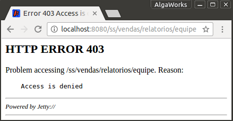 Erro 403