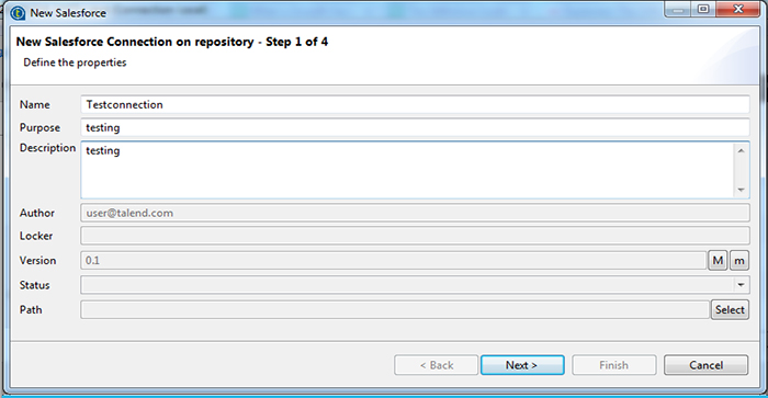How to Import and Export data from Salesforce using Talend3