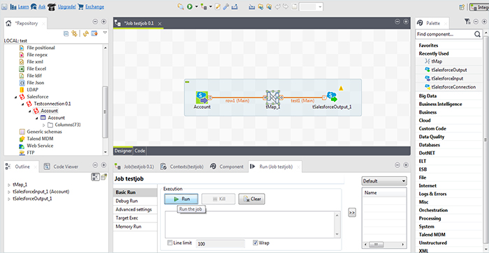 How to Import and Export data from Salesforce using Talend10