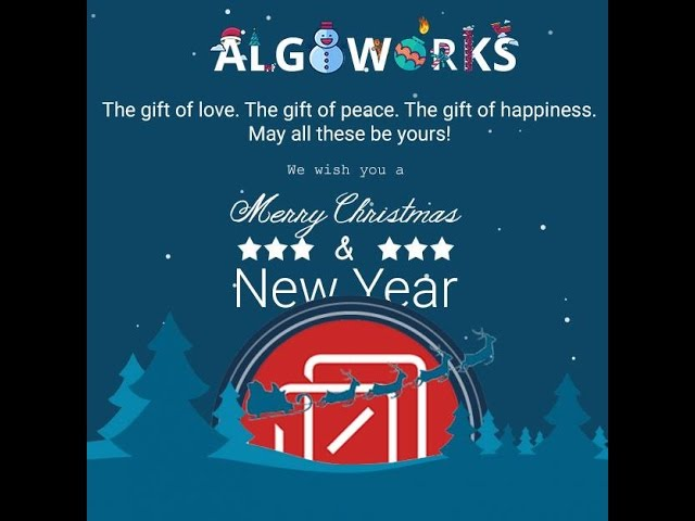 Algoworks Wishes You A Jolly Christmas And A Wonderful New Year!