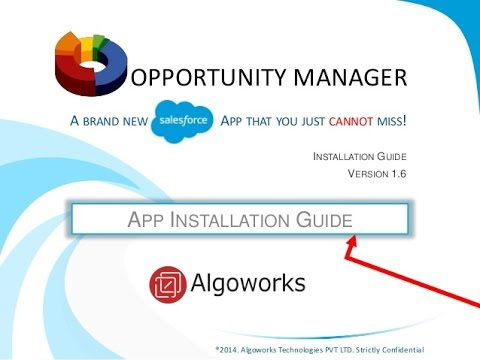 AWOM Installation Guide- A Complete Salesforce Plugin for Opportunity Management