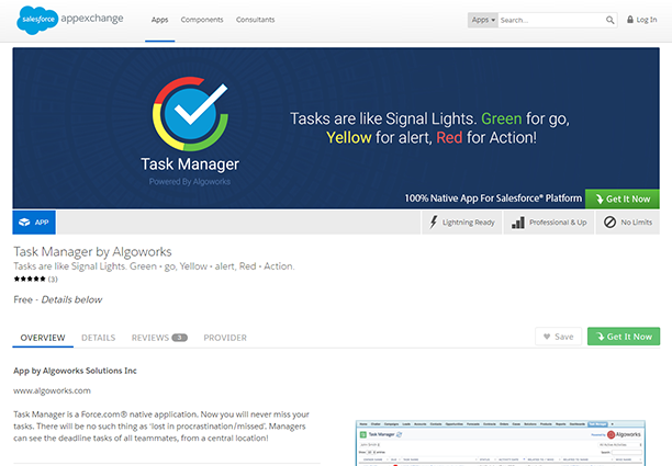 Task Management App on Salesforce AppExchange | salesforce appexchange development