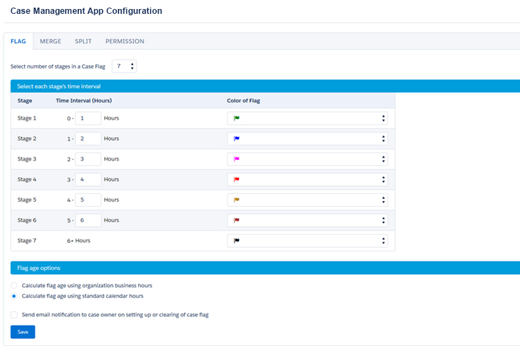 Salesforce Case Management App Screenshot