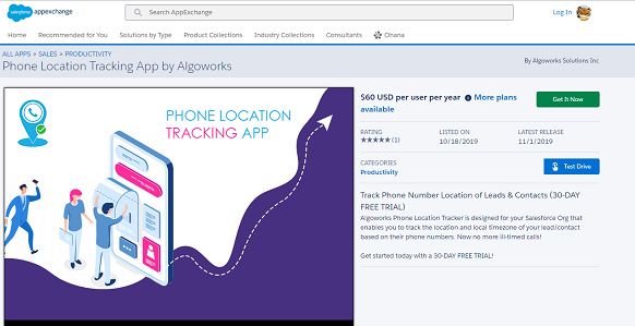 Phone Location Tracking App| salesforce appexchange partner