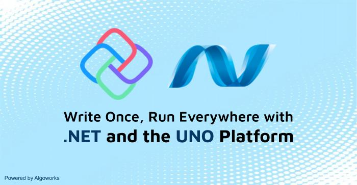 Write Once, Run Everywhere with .NET and the Uno Platform!
