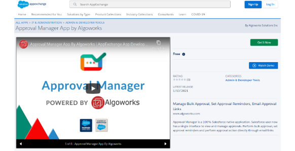 Approval Manager on AppExchange