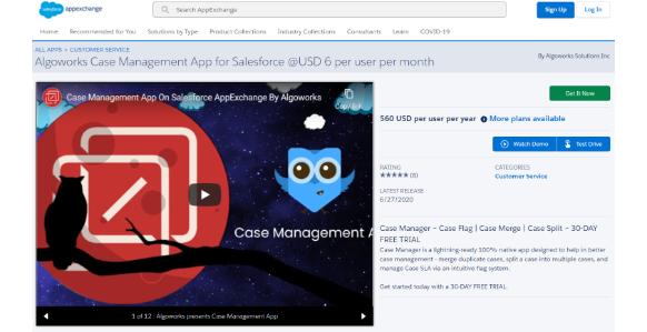 Case Management Salesforce Appexchange App| salesforce appexchange partner in USA, 2020