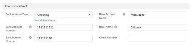paypal payflow electronic check