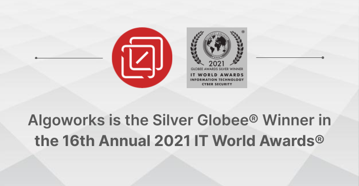 Algoworks Wins Globee® in the 16th Annual 2021 IT World Awards®!