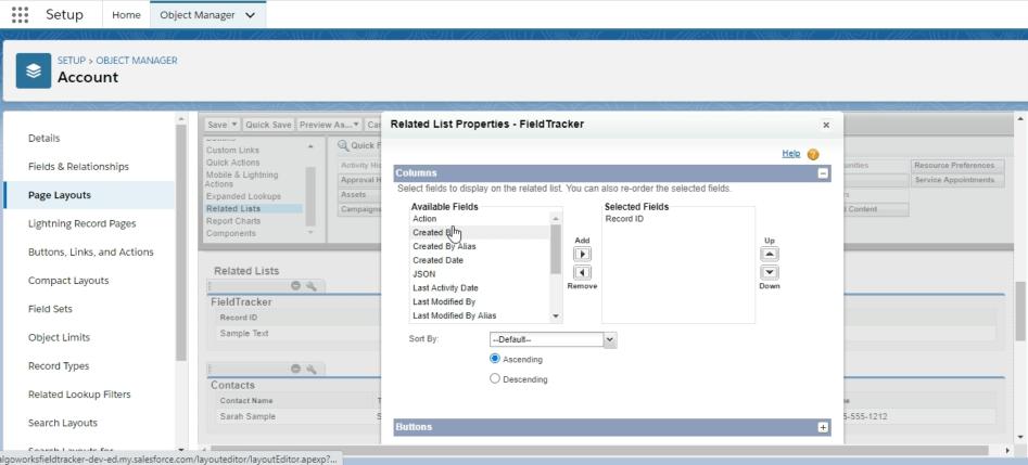 field type tracking in field tracker