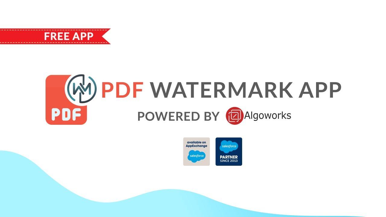 pdf watermark app