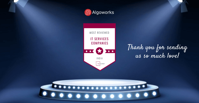 The Manifest Recognizes Algoworks as India's Most Recommended IT Services Company